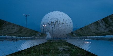 MUNICH, GERMANY - JUNE 23:  Radomes at a facility called the Bad Aibling Station once used by U.S. National Security Agency (NSA) stand at dusk on June 23, 2014 near Bad Aibling, Germany. According to media reports based on recent documents released by former NSA worker Edward Snowden the NSA continues to operate from another nearby facility called the Mangfall Kaserne of the German intelligence services. The documents released by Snowden show a high level of activity of the NSA within Germany as well as active sharing of information between the NSA and German authorities. The Bundestag has convened a special commission to investigate the activities of the NSA following the revelation last year that the NSA had tapped the phone of German Chancellor Angela Merkel.  (Photo by Joerg Koch/Getty Images)