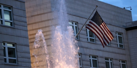The embassy of the United States of America stands on July 7, 2014 in Berlin, Germany. A German employee of his country's foreign-intelligence agency, known as the Bundesnachrichtendienst (BND), was arrested on suspicion of working as a double agent for the United States National Security Agency (NSA), a further blow to German-U.S. relations after suspicions that the latter agency had listened in on German Chancellor Angela Merkel's mobile phone. Investigations into the exact extent of the American government's surveillance in the country are ongoing, but reports from former U.S. intelligence employees have stated that U.S. embassies around the world have contained sophisticated eavesdropping equipment used to gather surveillance on their host countries for decades.