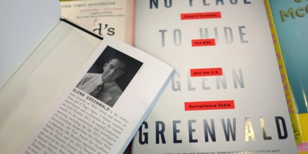 MIAMI, FL - MAY 13:  Glenn Greenwald's new book,