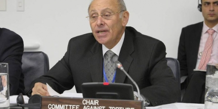 Chairperson of the UN Committee against Torture Claudio Grossman. UN Photo/Evan Schneider