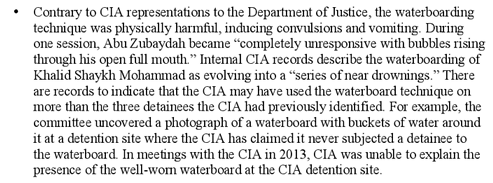 contrary to CIA...