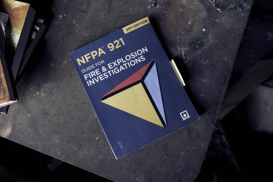 Manuals used by Stuart Bayne for investigating fires