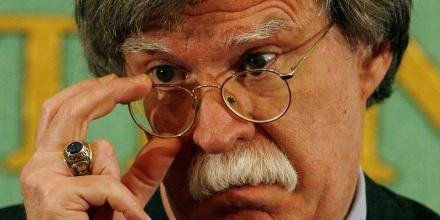 ** FILE ** In a file photo John Bolton, former U.S. Ambassador to the United Nations, takes a question from the media at the Japan press club in Tokyo Wednesday, Jan. 17, 2007.  Bolton said Tuesday March  20, 2007,