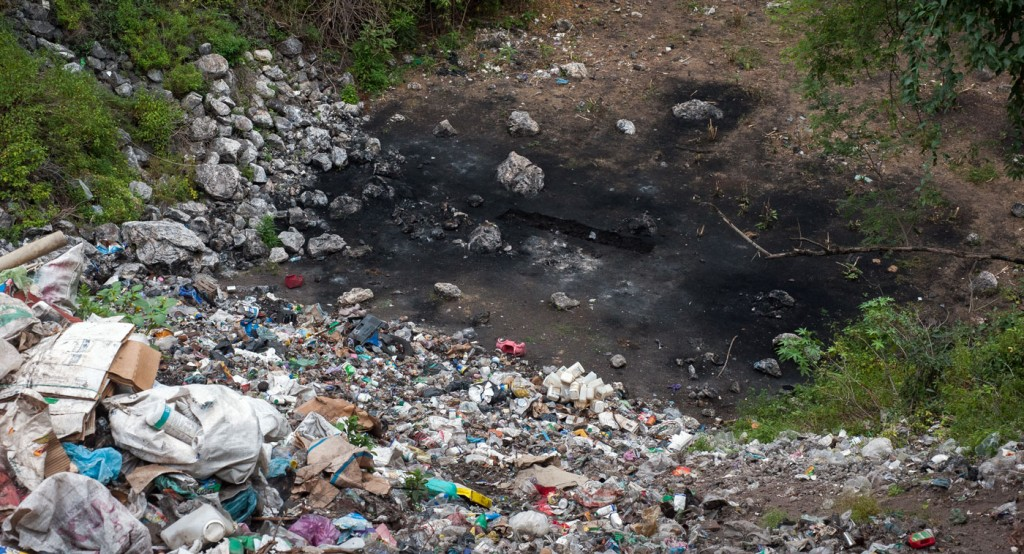 Forty-three male students from the Raul Burgos Rural Teachers College in Ayotzinapa, Guerrero were disappeared on September 26, 2014 at the hands of local police working in conjunction with drug traffickers. The municipal garbage dump of the town of Cocula, Guerrero, site of the alleged burning of the bodies of the 43 students.