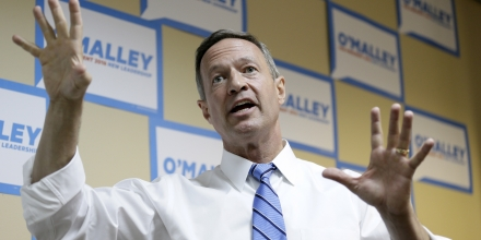 Democratic presidential candidate former Maryland Gov. Martin O'Malley speaks to supporters at his campaign headquarters, Saturday, May 30, 2015, in Des Moines, Iowa. (AP Photo/Charlie Neibergall)