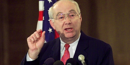 WASHINGTON, :  Senate Banking Chairman Senator Phil Gramm (R-TX) holds a press conference on his agenda for the 107th Congress 22 January, 2001 on Capitol Hill.  AFP Photo/Stephen JAFFE (Photo credit should read STEPHEN JAFFE/AFP/Getty Images)