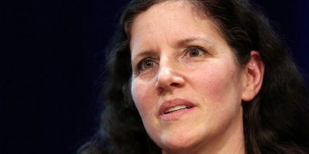 BERLIN, GERMANY - JANUARY 30:  Laura Poitras, documentary filmmaker and allegedly one of only two people with the full archives of the global surveillance disclosure initiated by former National Security Agency (NSA) contractor Edward Snowden, attends the Transmediale festival for art and digital culture on January 30, 2014 in Berlin, Germany. The festival and year-round project is an attempt to draw out new connections between art, culture and technology.  (Photo by Adam Berry/Getty Images)