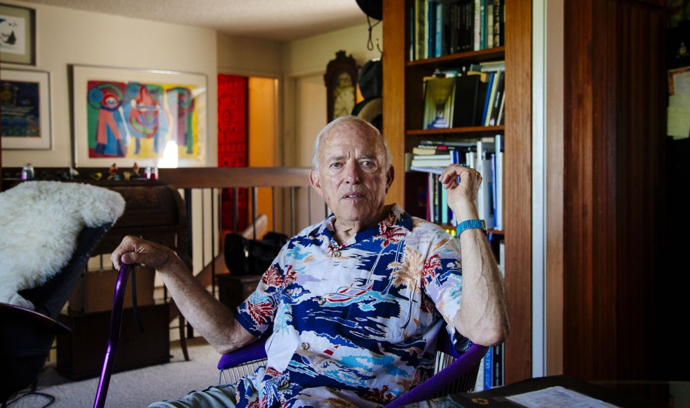 Forensic dentist Dr. Norman Skip Sperber poses for a portrait in his home in San Diego, California August 3, 2015. (Photo by Kendrick Brinson)