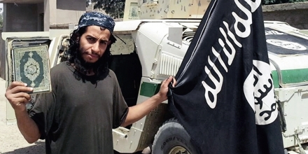 Undated file photo from ISIS (Islamic State of Iraq and Syria) or Islamic State group or Daesh (Daech), shows Belgian Abdelhamid Abaaoud or Abou Omar Soussi who is suspected by French officials of being the man behind Paris terrorist attacks. Photo by Balkis Press/Sipa USA
