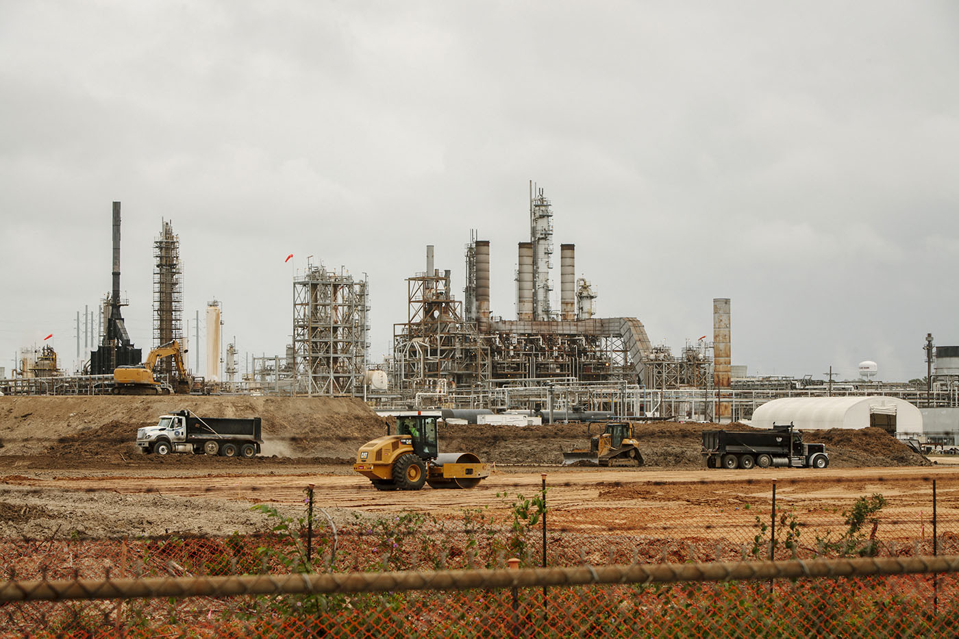 The Sasol plant is rapidly expanding across acres of land that were once part of the tiny towns of Westlake and Mossville, La., Oct. 23, 2015.