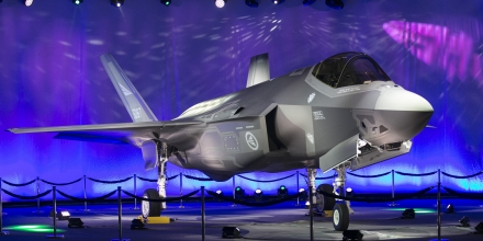 First Norwegian Armed Forces Lockheed Martin F-35A Lightning II, known as AM-1 Joint Strike Jet Fighter, is unveiled during the rollout celebration at Lockheed Martin production facility in Fort Worth, TX, on Tuesday, Sep. 22, 2015.  The Lockheed Martin F-35 Lightning II is a family of single-seat, single-engine, all-weather stealth multirole fighters undergoing final development and testing by the United States. The fifth generation combat aircraft is designed to perform ground attack, aerial reconnaissance, and air defense missions.   AFP PHOTO/LAURA bUCKMAN        (Photo credit should read LAURA BUCKMAN/AFP/Getty Images)
