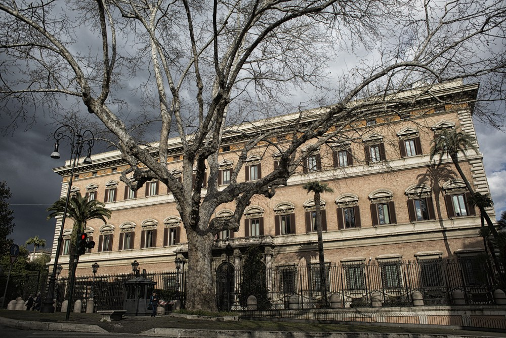 Rome, Italy-11 March 2016: The American Embassy in Rome. ©Nadia Shira Cohen