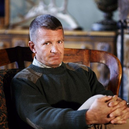 Blackwater Founder Erik Prince is seen at his home in Virginia on Wednesday, November 13, 2013.