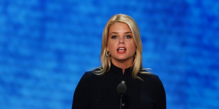 TAMPA, FL - AUGUST 29:  Florida Attorney General Pam Bondi speaks during the third day of the Republican National Convention at the Tampa Bay Times Forum on August 29, 2012 in Tampa, Florida. Former Massachusetts Gov. Mitt Romney was nominated as the Republican presidential candidate during the RNC, which is scheduled to conclude August 30.  (Photo by Mark Wilson/Getty Images)