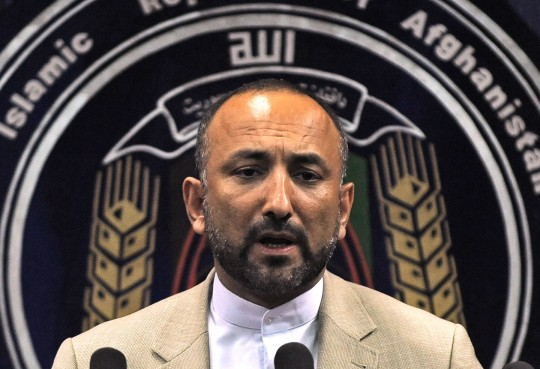 "Afghanistan's interior minister Hanif Atmar speaks during a press conference at the interior ministry in Kabul on June 6, 2010. Afghanistan's interior minister and secret service chief resigned after security failings at a ""peace jirga"" in Kabul that came under militant attack, President Hamid Karzai's office said. The resignations came after Karzai called in the pair to account for a rocket attack by suspected Taliban rebels on the landmark meeting in Kabul last week intended to set out a plan for ending the insurgency.  AFP PHOTO/Massoud HOSSAINI (Photo credit should read MASSOUD HOSSAINI/AFP/Getty Images)"