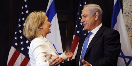 US Secretary of State Hillary Rodham Clinton and Israeli Prime Minister Benjamin Netanyahu meet in Sharm El-Sheikh, Egypt Tuesday, Sept. 14, 2010. Clinton said the