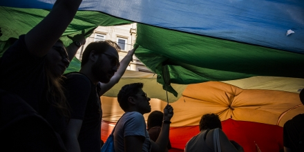 Tens of thousands of people participated in the annual Gay Pride March in Istanbul on June 29, 2014. Turkey is the only majority Muslim country where gay pride gatherings can take place. Photo by Jodi Hilton/NurPhoto/Sipa USA (Photo by Jodi Hilton/NurPhoto/Sipa USA)