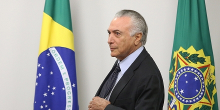 The incumbent president, Michel Temer during a meeting with economic ministers at the Planalto Palace in Brasilia, capital of Brazil, on June 22, 2016.Photo: DIDA SAMPAIO/ESTADAO CONTEUDO (Agencia Estado via AP Images)