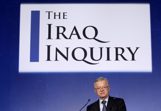 John Chilcot, the chairman of the Iraq Inquiry, outlines the terms of reference for the inquiry and explains the panel's approach to its work during a news conference to launch it at the QEII conference centre in London, Thursday, July 30, 2009. The head of a British inquiry into the Iraq war said Thursday he will call former Prime Minister Tony Blair to testify about the run-up to the conflict, but acknowledged it is unlikely that senior Bush administration officials would give evidence. (AP Photo/Matt Dunham)