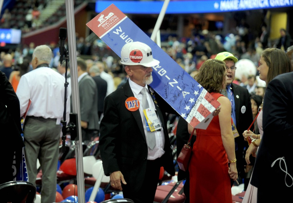 Photo by: Dennis Van Tine/STAR MAX/IPx7/21/16Atmosphere at day 4 of The Republican National Convention.(Cleveland, Ohio)