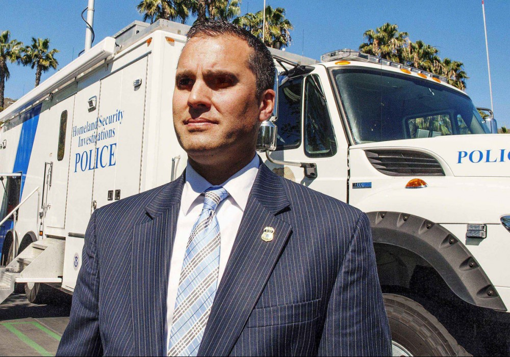 March 4, 2015 - Irvine, California, U.S. - Special Agent in charge of Homeland Security Investigations CLAUDE ARNOLD outside a command post as Federal agents executed search warrants and interview pregnant Chinese nationals inside an upscale Irvine apartment complex on Tuesday, March 3, 2015, in hopes of finding witnesses to prosecute online birth tourism businesses. (Credit Image: © Ken Steinhardt/The Orange County Register via ZUMA Wire)