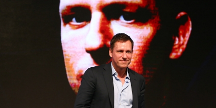 BEIJING, CHINA - FEBRUARY 27:  (CHINA OUT) Peter Thiel, co-founder of PayPal Inc., speaks during a forum themed on entrepreneurship and investment at China National Convention Center on February 27, 2015 in Beijing, China.  (Photo by VCG/VCG via Getty Images)