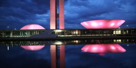 BRASILIA, BRAZIL - OCTOBER 27:  The Brazilian National Congress building is lit at dusk on October 27, 2014 in Brasilia, Brazil. Brazil's left-wing President Dilma Rousseff was narrowly re-elected yesterday and will serve another four years in Brazil's unique planned capital city. The modernist city was founded in 1960 and replaced Rio de Janeiro as the federal capital of Brazil. The city was designed by urban planner Lucio Costa and architect Oscar Niemeyer and is now a UNESCO World Hertiage site.  (Photo by Mario Tama/Getty Images)