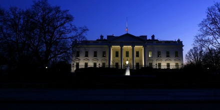 WASHINGTON - JANUARY 10:  Evening settles over the White House January 10, 2007 in Washington, DC. U.S. President George W. Bush will address the nation this evening on his latest strategy in Iraq.  (Photo by Win McNamee/Getty Images)