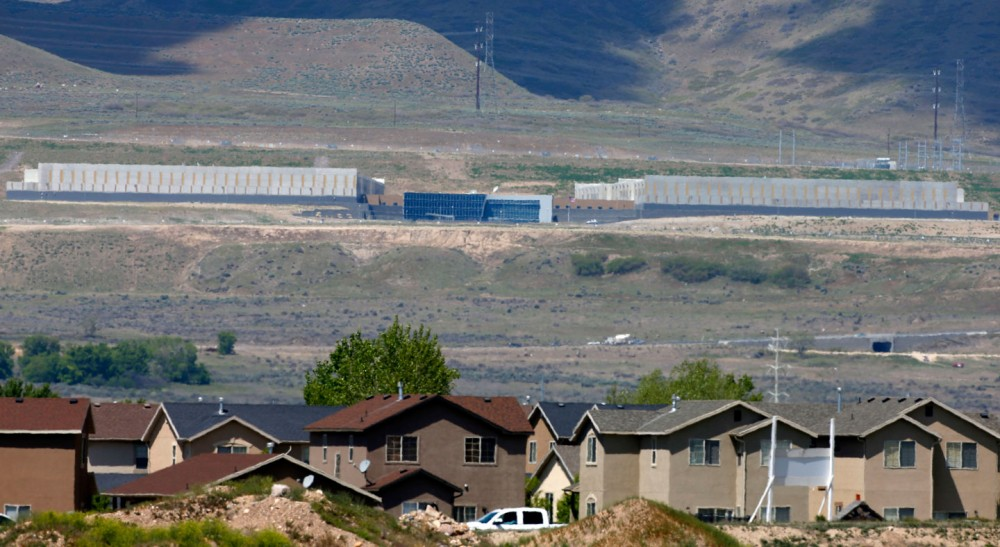 BLUFF DALE, UT - MAY 7: A neighborhood sits in the foreground as the new NSA's spy data collection center  sits in the background on May 7, 2015 in Bluffdale, Utah. Located just south of Salt Lake City, it has been reported this is the largest spy center in the world with massive computer power processing data.  A New York Court of appeals ruled today that the NSA's bulk collection of phone data is illegal. (Photo by George Frey/Getty Images)