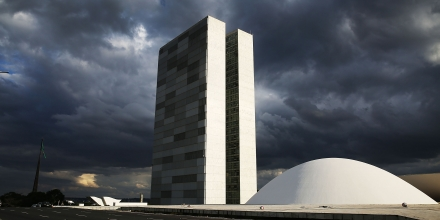 BRASILIA, BRAZIL - OCTOBER 27:  The Brazilian National Congress building is shown on October 27, 2014 in Brasilia, Brazil. Brazil's left-wing President Dilma Rousseff was narrowly re-elected yesterday and will serve another four years in Brazil's unique planned capital city. The modernist city was founded in 1960 and replaced Rio de Janeiro as the federal capital of Brazil. The city was designed by urban planner Lucio Costa and architect Oscar Niemeyer and is now a UNESCO World Hertiage site.  (Photo by Mario Tama/Getty Images)