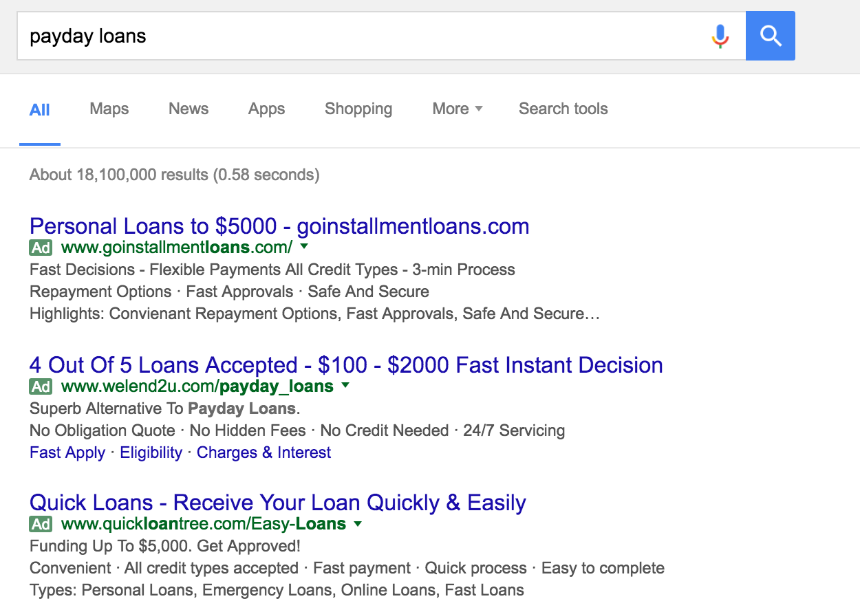 Google Said It Would Ban All Payday Loan Ads. It Didn't.