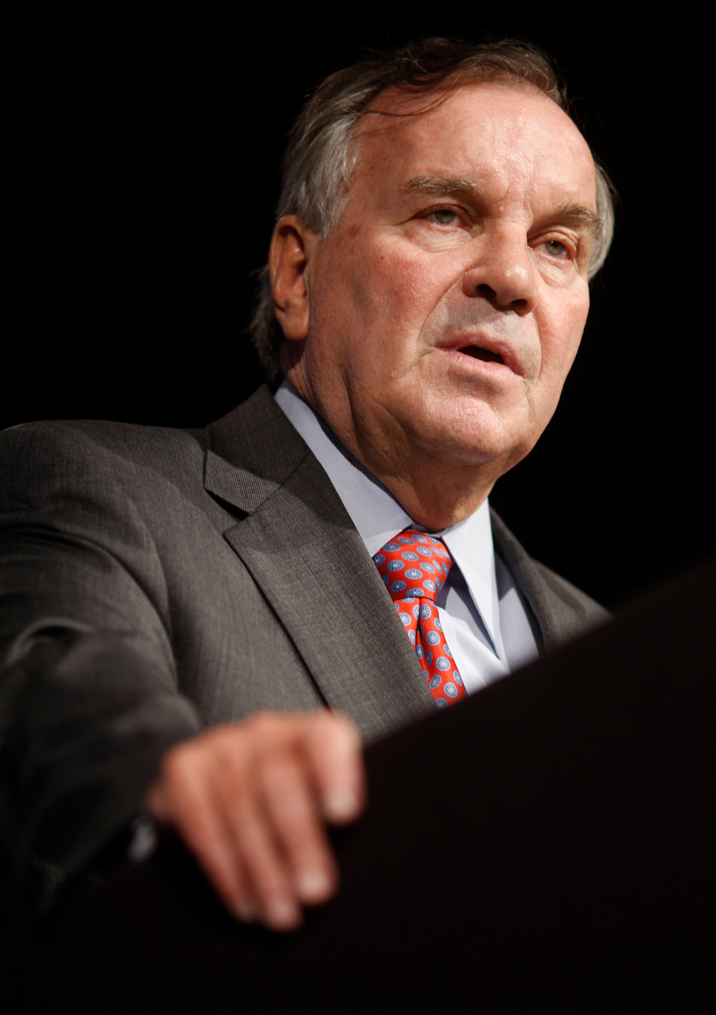 Chicago Mayor Richard Daley addresses the National Fraternal Congress on September 9, 2010 in Chicago, Illinois. Daley announced September 8, that he would not seek reelection as mayor, a post he has held since 1989.