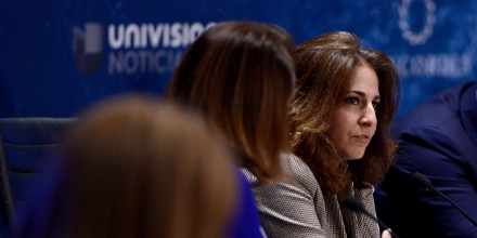 MIAMI, FL - MAY 13: (C) President & CEO, Center for American Progress Neera Tanden speaks on stage during Concordia | The Americas, a high-level Summit on the Americas organized by Concordia taking place at Miami Dade College in partnership with Univision and Americas Society/Council of the Americas (Photo by Leigh Vogel/Getty Images for Concordia).  (Photo by Leigh Vogel/Getty Images for Concordia)