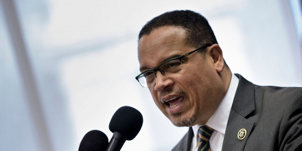 Rep. Keith Ellison (D-MN) speaks during a press conference about Islamophobia at the National Press Club May 24, 2016 in Washington, DC. / AFP / Brendan Smialowski        (Photo credit should read BRENDAN SMIALOWSKI/AFP/Getty Images)