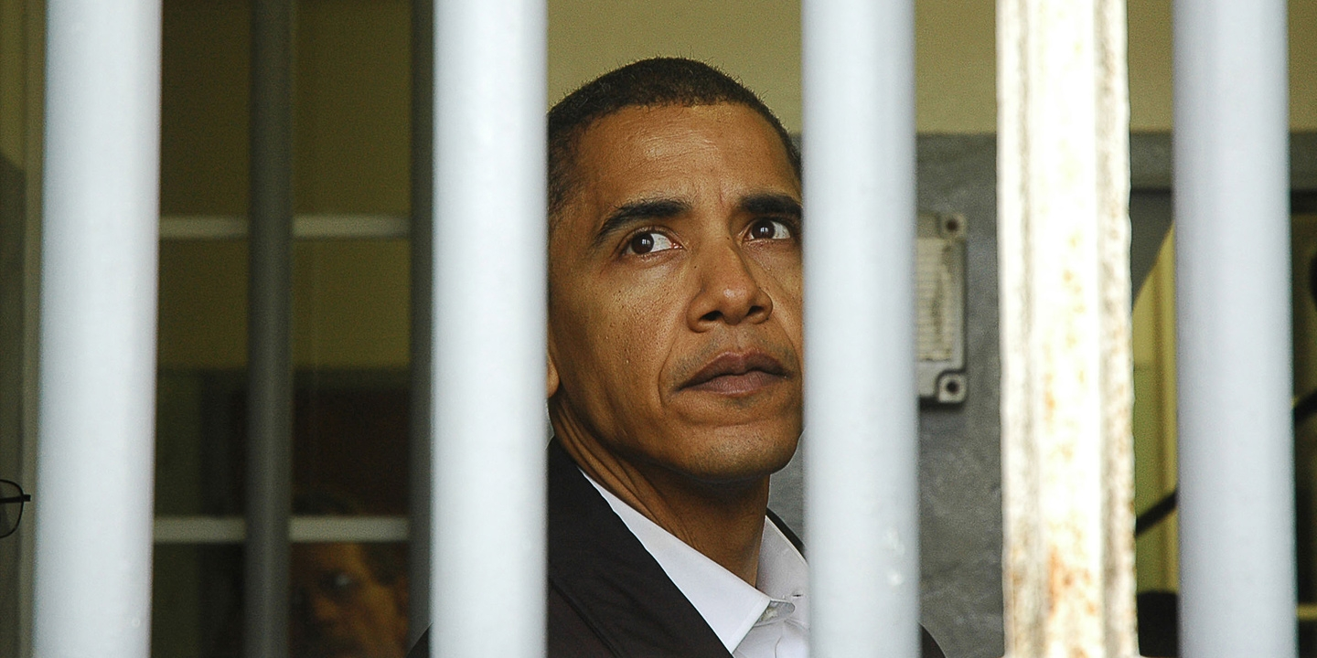 Image result for obama in prison
