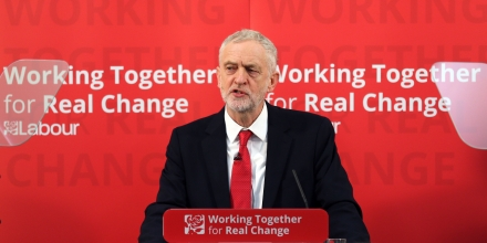 Corbyn visit to Peterborough. Labour Party leader Jeremy Corbyn speaks during a visit to Paston Farm Centre in Peterborough, where he outlined the party's plan for Brexit and vision for Britain. Picture date: Tuesday January 10, 2017. See PA story POLITICS Corbyn. Photo credit should read: Chris Radburn/PA Wire URN:29688376