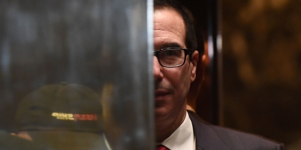 US President-elect Donald Trump adviser Steven Mnuchin arrives at the Trump Tower in New York on November 14, 2016. President-elect Donald Trump has vowed to move aggressively on a conservative agenda in filling Supreme Court vacancies, cracking down on immigration and cutting taxes, but also sought to reassure worried Americans they have nothing to fear from his presidency. / AFP / Jewel SAMAD (Photo credit should read JEWEL SAMAD/AFP/Getty Images)