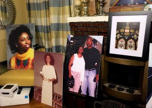 Photographs of Cynthia Maria Hurd are displayed in the living room of the North Charleston home of her widower, Arthur Stephen Hurd, on Jan. 6, 2017.