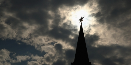 MOSCOW, RUSSIA - AUGUST 06: The spire of the Vodovzvodnaya Tower at the Kremlin is seen ahead of the IAAF World Championships on August 6, 2013 in Moscow, Russia.  (Photo by Cameron Spencer/Getty Images)