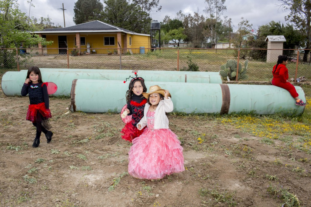 April 8, 2016. Jacumel, Mexico. A group of children play at a spring festival in the small border town of Jacumel near Tijuana.