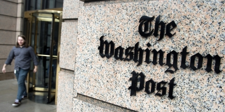 The headquarters for The Washington Post newspaper is seen in Washington, DC, December 24, 2015. The newspaper recently moved several blocks from their 1972-era headquarters to a state-of-the-art newsroom designed for the digital era. AFP PHOTO / SAUL LOEB / AFP / SAUL LOEB        (Photo credit should read SAUL LOEB/AFP/Getty Images)
