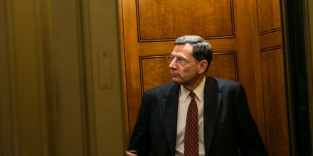 WASHINGTON, DC - MARCH 22:  U.S. Sen. John Barrasso (R-WY) enters an elevator after voting on the Senate floor on Capitol Hill March 22, 2013 in Washington, DC. The Senate voted on amendments to the budget resolution on Friday afternoon and into the evening. (Photo by Drew Angerer/Getty Images)