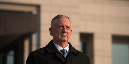 US Defense Secretary James Mattis attends an honour guard ceremony with his South Korean counterpart Han Min-Koo at the Defense Ministry in Seoul on February 3, 2017.Mattis was in the South Korean capital before going on to Tokyo, on the first overseas tour by a senior Trump administration official as concerns rise about the direction of US policy in the region under the protectionist and fiery leader. / AFP / Ed JONES (Photo credit should read ED JONES/AFP/Getty Images)