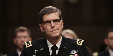 WASHINGTON, DC - MARCH 09:  U.S. Central Command Commander Army Gen. Joseph Votel testfies before the Senate Armed Services Committee March 9, 2017 in Washington, DC. Votel updated the committee on current operations in Afghanistan and Syria during his testimony.  (Photo by Win McNamee/Getty Images)
