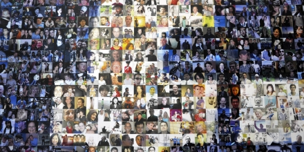 FOREST CITY, NC - APRIL 19:  A collage of profile pictures makes up a wall in the break room at the new Facebook Data Center on April 19, 2012 in Forest City, North Carolina.  The company began construction on the facility in November 2010 and went live today, serving the 845 million Facebook users worldwide.  (Photo by Rainier Ehrhardt/Getty Images)