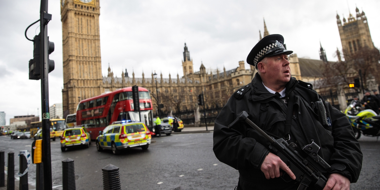 You Shouldnt Blame Islam For Terrorism Religion Isnt A Crucial  London England  March  An Armed Police Officer Stands Guard Near  Westminster Bridge