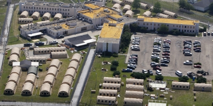 FILE - In this May 9, 2011, file photo, the Louisiana State Penitentiary at Angola, La., is viewed. As summer approaches in Louisiana, prison officials insist that ice, fans and cold showers are enough to protect death-row inmates from dangerous heat and humidity. If not, a federal judge may order them to install air conditioning for inmates awaiting execution at the penitentiary in Angola. (AP Photo/Patrick Semansky, File)