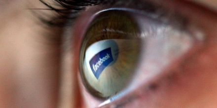 LONDON - FEBRUARY 03:  The Facebook logo is reflected in the eye of a girl surfing the internet on February 3, 2008 in London, England.  (Photo by Chris Jackson/Getty Images)