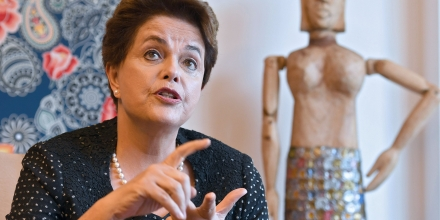 Former Brazilian President (2011-2016) Dilma Rousseff speaks with AFP during an interview in Brasilia on February 17, 2017. Rousseff spoke about the current Brazilian economic situation and the possibility of running for a seat in Congress in the next elections. / AFP / EVARISTO SA (Photo credit should read EVARISTO SA/AFP/Getty Images)