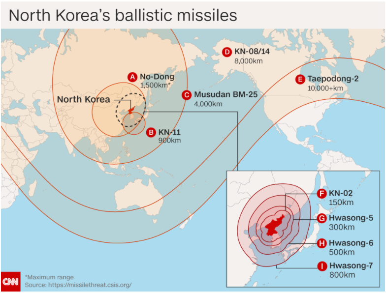 North Korea missile range maps 2017 Where can Kim Jongun reach